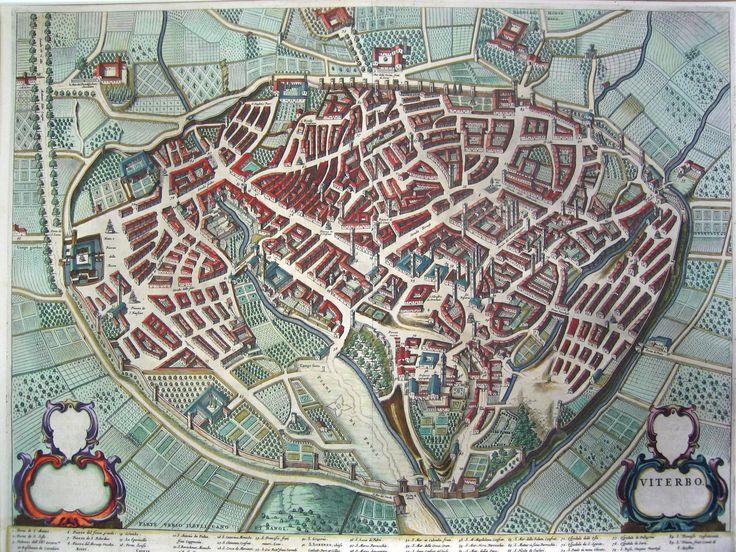 1600's Bird's Eye Map of Viterbo