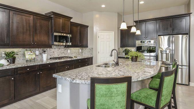 Open kitchen don39t you just love granite countertops for O sullivan kitchen furniture