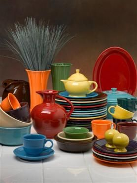I love Fiestaware--it's as wild and wacky as I am!  Something for everyone in a complete set :)