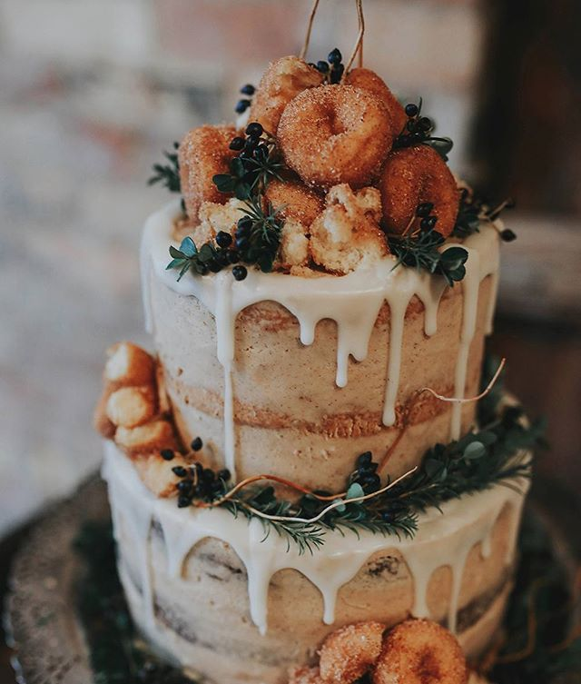Cake AND donuts? We're in -- Check out our 30 Most Pinned Fall Weddings on ruffledblog.com