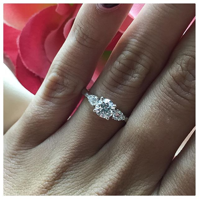 Pin for Later: 24 Real Girls Show You Just How Gorgeous 3-Stone Engagement Rings Truly Are