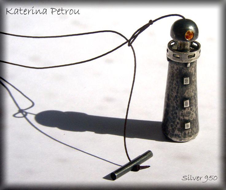 Lighthouse Necklace, Silver 950 https://www.facebook.com/katpetrou.jewellery