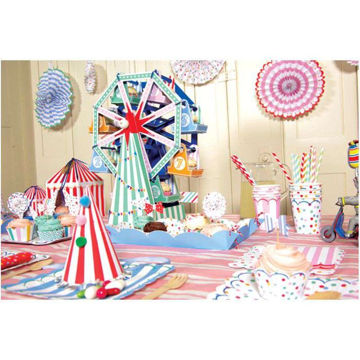 Teller groß Punkte Zirkus Party › helavik.de