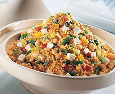 Feta Couscous with Tre Stelle ® Feta #couscous #healthyrecipe