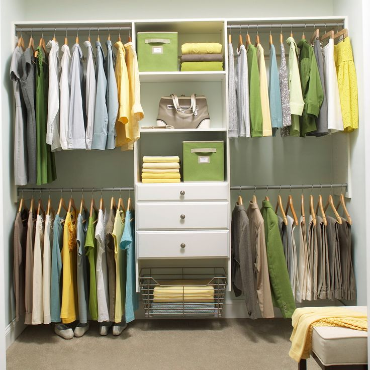 white home depot closet organizer with hanging clothes and drawers for inspiring home storage ideas