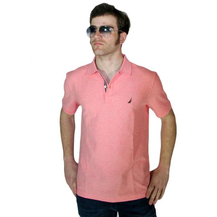 NAUTICA Ανδρική κοντομάνικη πικέ πόλο μπλούζα με γιακά K71000