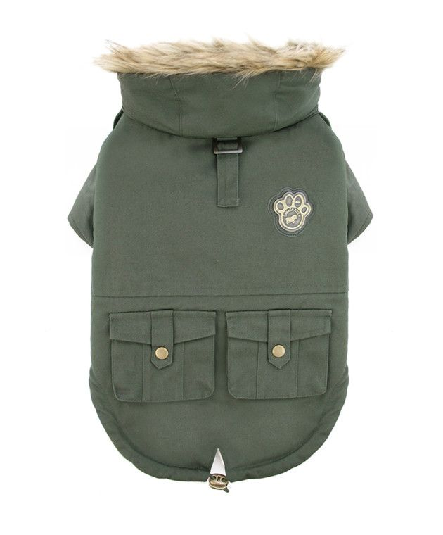 We have Canada Pooch's Alaskan Army Parka in Green, Maroon and Black!