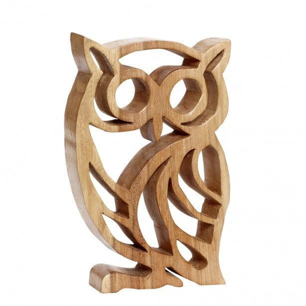 "Houten uil, houtsnijwerk - 20x30 cm. Hoot Owl, not sure of the type of wood, could be Maple or even Bammboo. Whatever, nice piece of scroll saw work. That's saying something for me as I'm really quite sick & tired of the ""Owl"" fad/trend that's been going on for ages now. This would make an intresting book end in an ""L"" frame ;)"