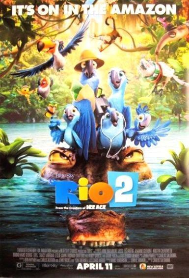 movie posters rio 2 and poster on pinterest