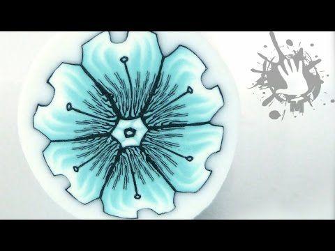 ▶ FREE TUTORIAL: Polymer clay tutorial Murrina Fiore Cristal / Millefiori cane Cristal - YouTube
