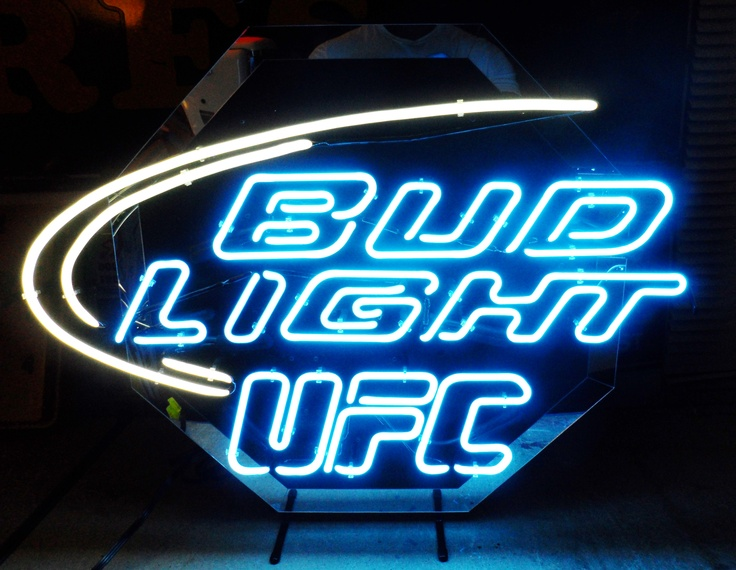 Bud Light Quot Ufc Quot Neon Bar Sign Circa 2000 Breweriana