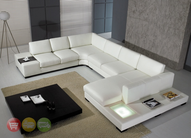 Modern White Couch modern white top grain leather modular sectional sofa contemporary