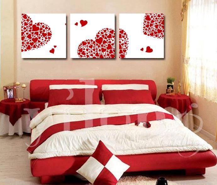 Trang trí phòng ngủ bằng màu đỏ thêm phần lãng mạn cho phòng ngủ LH Soloha VN: 04 63.29.7777 http://solohaplaza.com.vn/noi-that/noi-that-phong-ngu