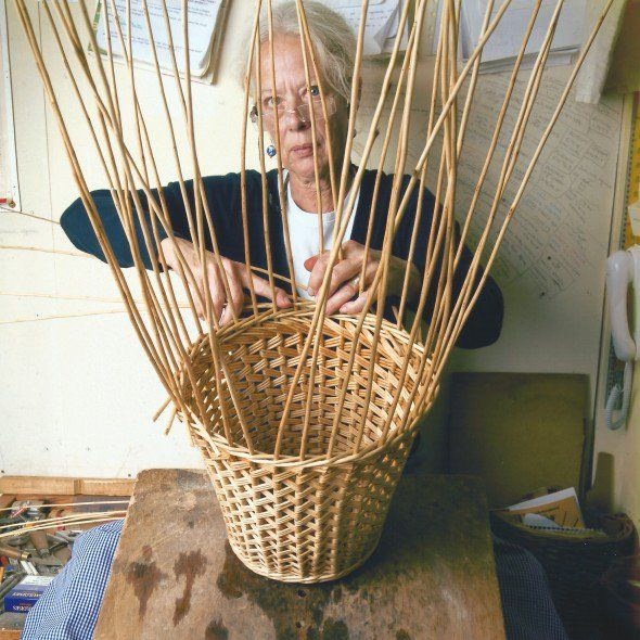 Sally Goymer - exceptional willow basket maker in Cheltenham, Gloucestershire, UK.