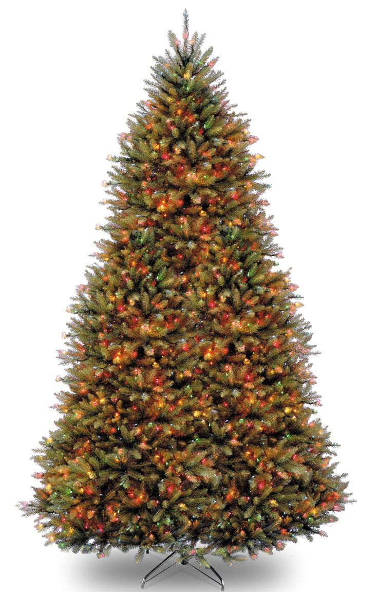 Crestwood small artificial christmas tree with plastic bronze pot - Dunhill Fir 9 Hinged Green Artificial Christmas Tree With 900 Led Multicolored Lights
