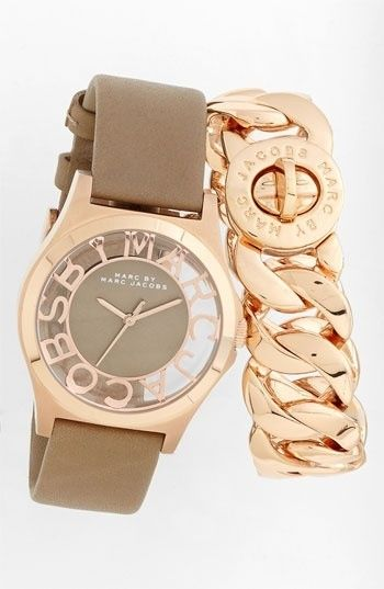 MARC BY MARC JACOBS 'Henry Skeleton' Watch