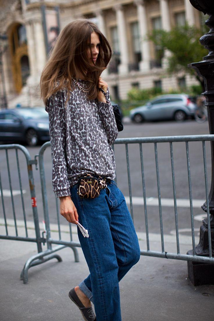 mismatched leopards, Chanel espadrilles.