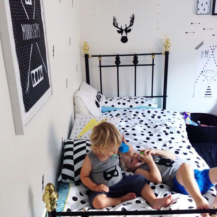 YorkeLee kids prints styled boys room.