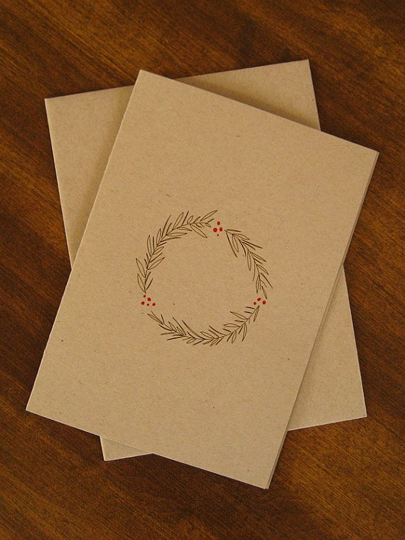 Very simple christmas cards