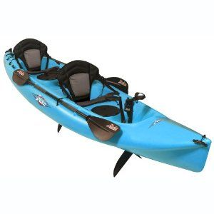 Tandem pedal kayak. Tons of storage, dry bags and cup holders. Want this soooo bad, great fun and exercise!!