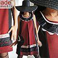 La Robe Trapèze Rouge Noire devient un Classique révisité : Prince de Galles, Dentelle ! Le must de la saison