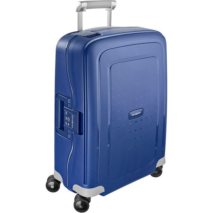 Samsonite S'Cure Small Suitcase in Blue 55cm | Buy Carry On Suitcases