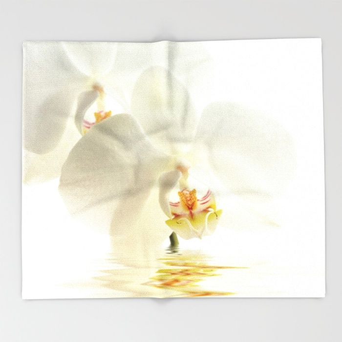 #Orchid in a bath Throw #Blanket #Free Worldwide #Shipping Today!