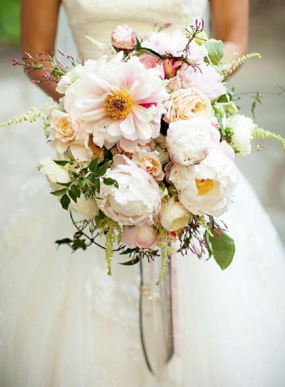 Breathtaking blush wedding bouquet; Via Amy Burke Designs