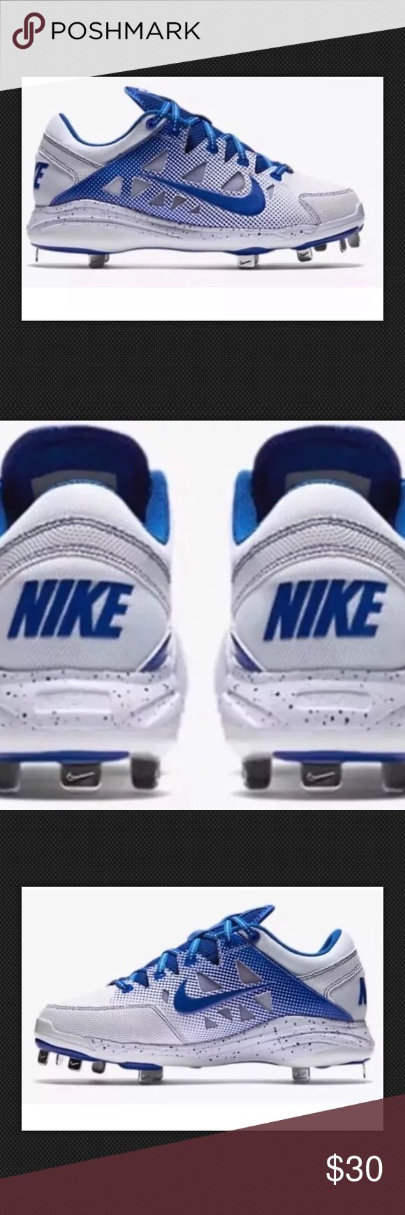 Nike Women's Hyperdiamond Pro Softball Metal Nike Women's Hyperdiamond Pro Softball Metal Cleats Blue Size 9 (684693-141) NEVER BEEN WORN!! NEW WITHOUT BOX Nike Shoes Athletic Shoes