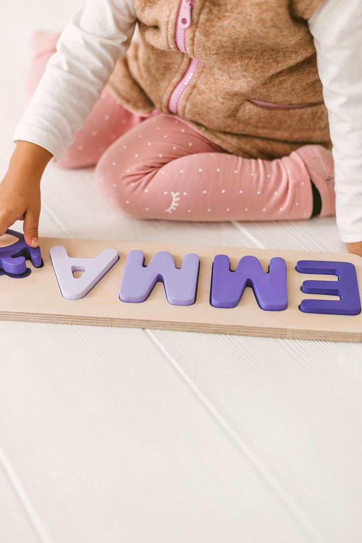 Custom name puzzle / 1st birthday gift / Montessori toy ...
