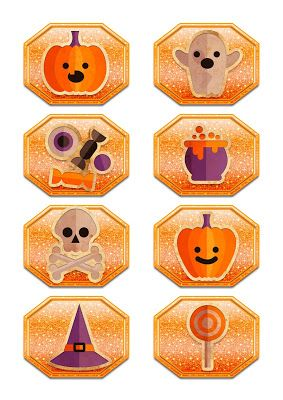 Nuskina: Etiquetas imprimibles halloween gratis