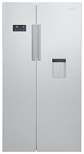 Beko GN 163221 S Side-by-Side / A+ / No-Frost /484 kWh/Jahr / 182 cm H�he / 364l K�hlteil / 190l Gefrierteil / Silber / Wasserspender mit Wassertank