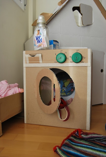 lavadora de carton · cardboard DIY
