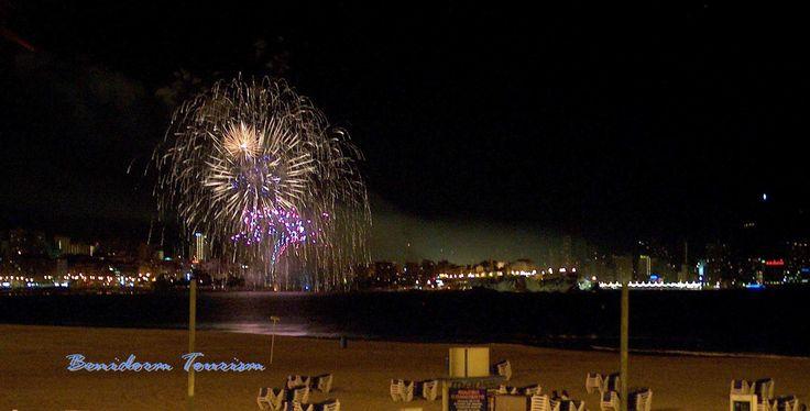 Fireworks Display Guy Fawkes Night 2016 in Benidorm Costa Blanca Spain