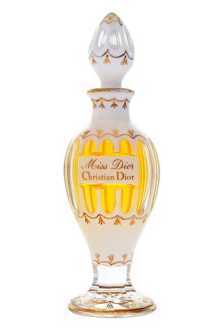1951 The 1951 Miss Dior amphore-like bottle designed by Baccarat. Read more: Eau Evolution: A Look Back at Over 60 Years of Miss Dior - Miss Dior Perfume Evolution - ELLE