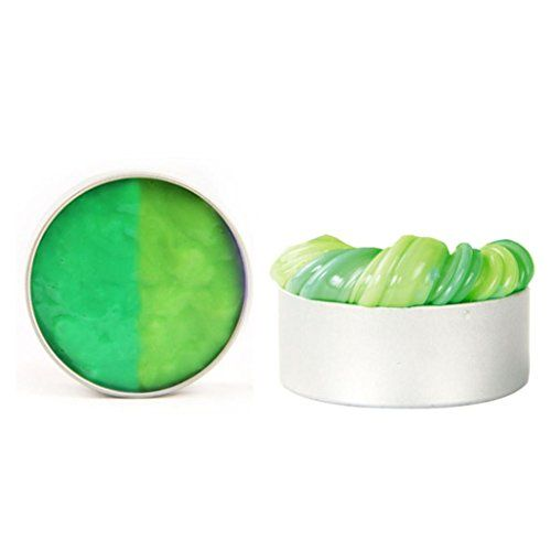 Toy For Kids,Dacawin(TM) Heat Discoloration Rubber Mud Slime Putty Scented Tub Stress Relief No Borax (Green)  Material: Silicone grease  Box Size: 6*2.5cm(Approx.)  Suitable for children Over the age of 3  Safe and non toxic - No Borax is used in this slime  The Color will be changed when the temperature Changes