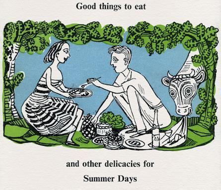 """Summer Days"" illustration by Edward Bawden for Fortnum & Mason"