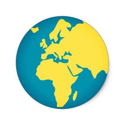 #Europe World Emoji Classic Round Sticker - #emoji #emojis #smiley #smilies