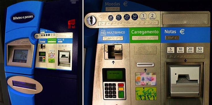 Metro Ticket Vending Machine, Lisboa, Portugal, 2013