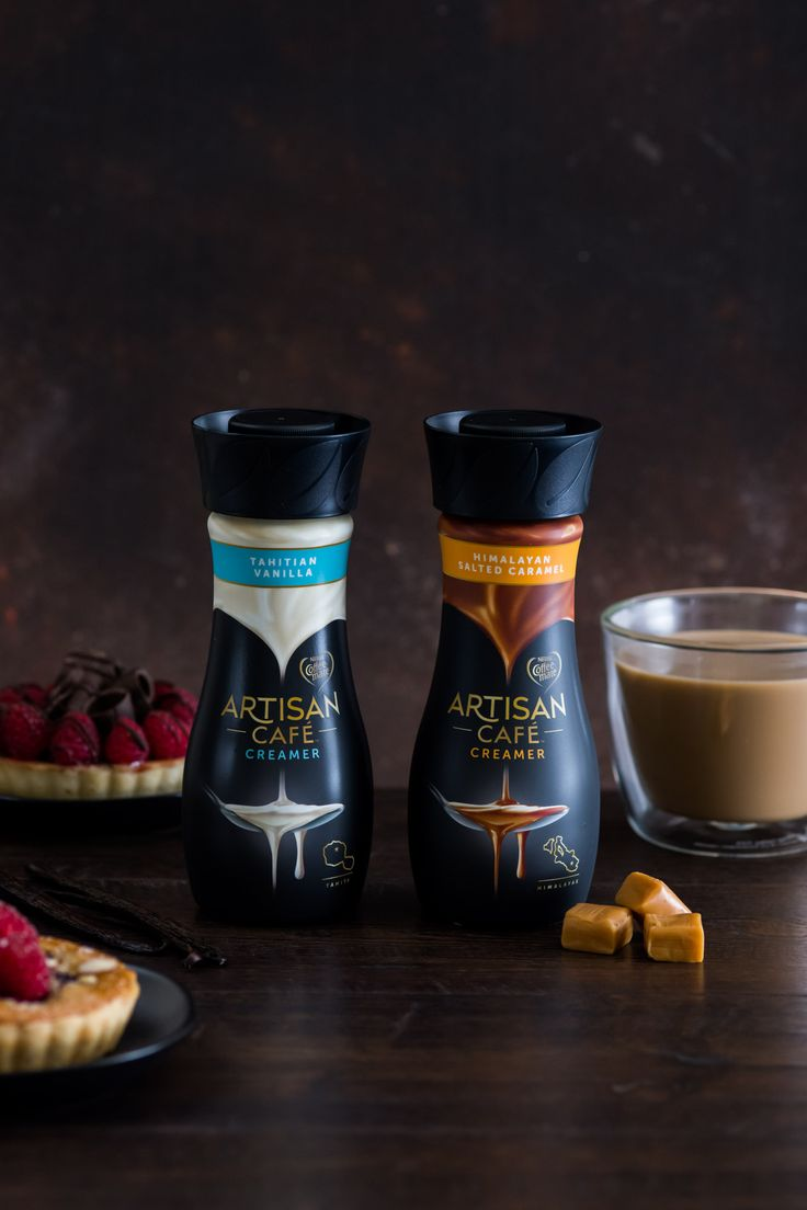 Introducing Artisan Café by Coffee-mate. Made with real milk, cream, and, buttermilk, our new Tahitian Vanilla and Himalayan Salted Caramel flavors are ready to stir up indulgence.