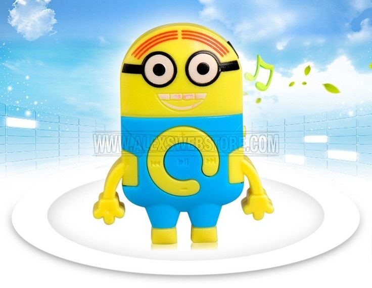 FeaturesLovely Minions designPlay music from external Micro SD cardAllows you to enjoy your favorite music at anytime and anywhereComes with earphones and a data cableCompact size, convenient to take alongGeneral SpecsAudio FormatsMP3,WMAAudio Port3.5 mm plugTF Card SlotYesPackage DetailsWeight: 43.87 g Size: 12*8.5*2 cm