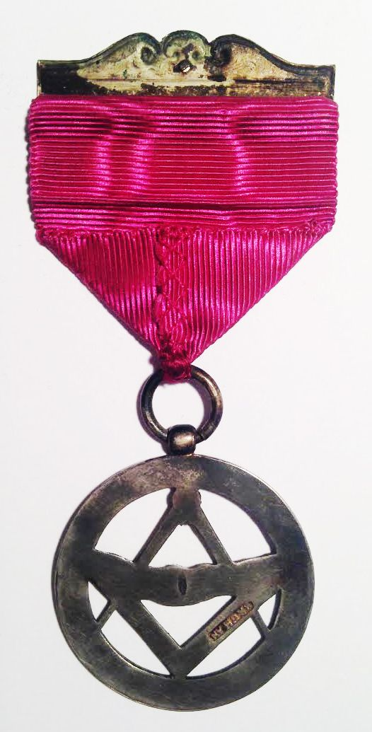 "Hungarian masonic medal ""Hungaria Összetartás"" 1874  B side Material: Silver"