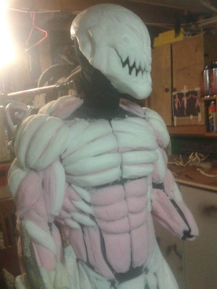 carnage costume wip by mongrelman