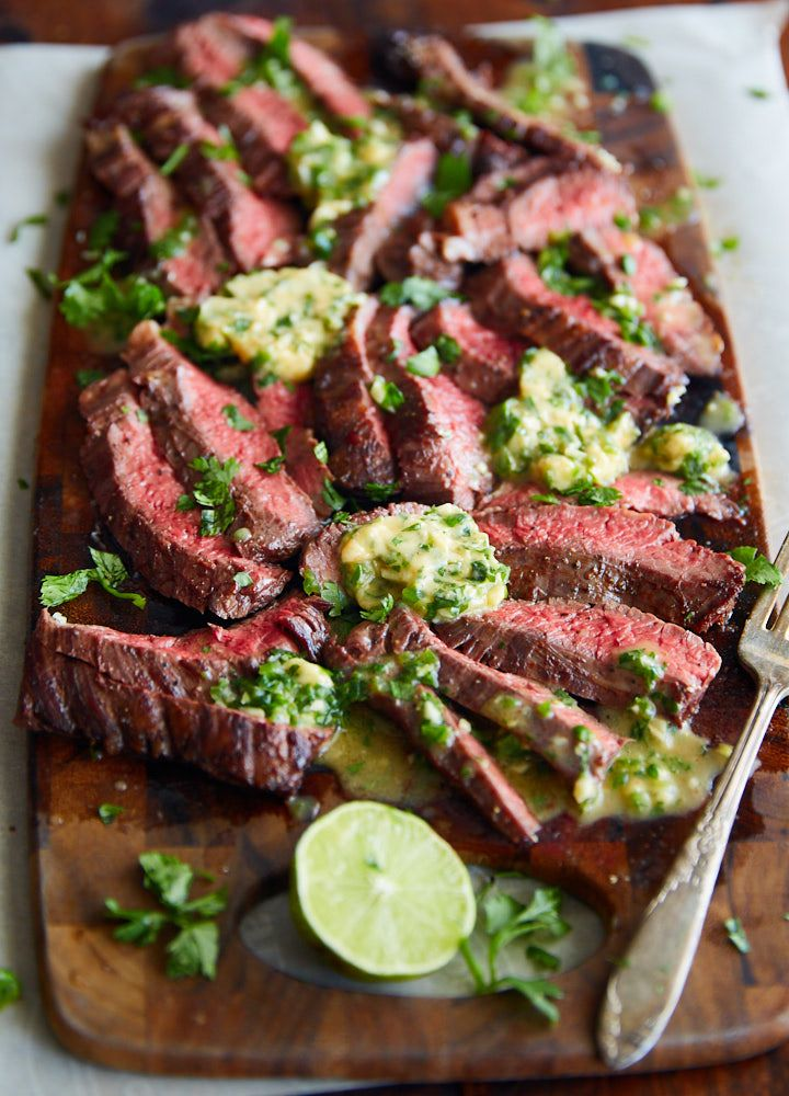 Pan-Fried Skirt Steak with Chili Butter