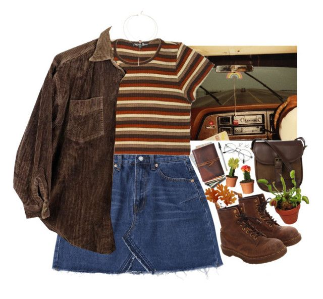 """""""Stranger Things"""" by lsaroskyl ❤ liked on Polyvore featuring Dr. Martens and DUBARRY"""