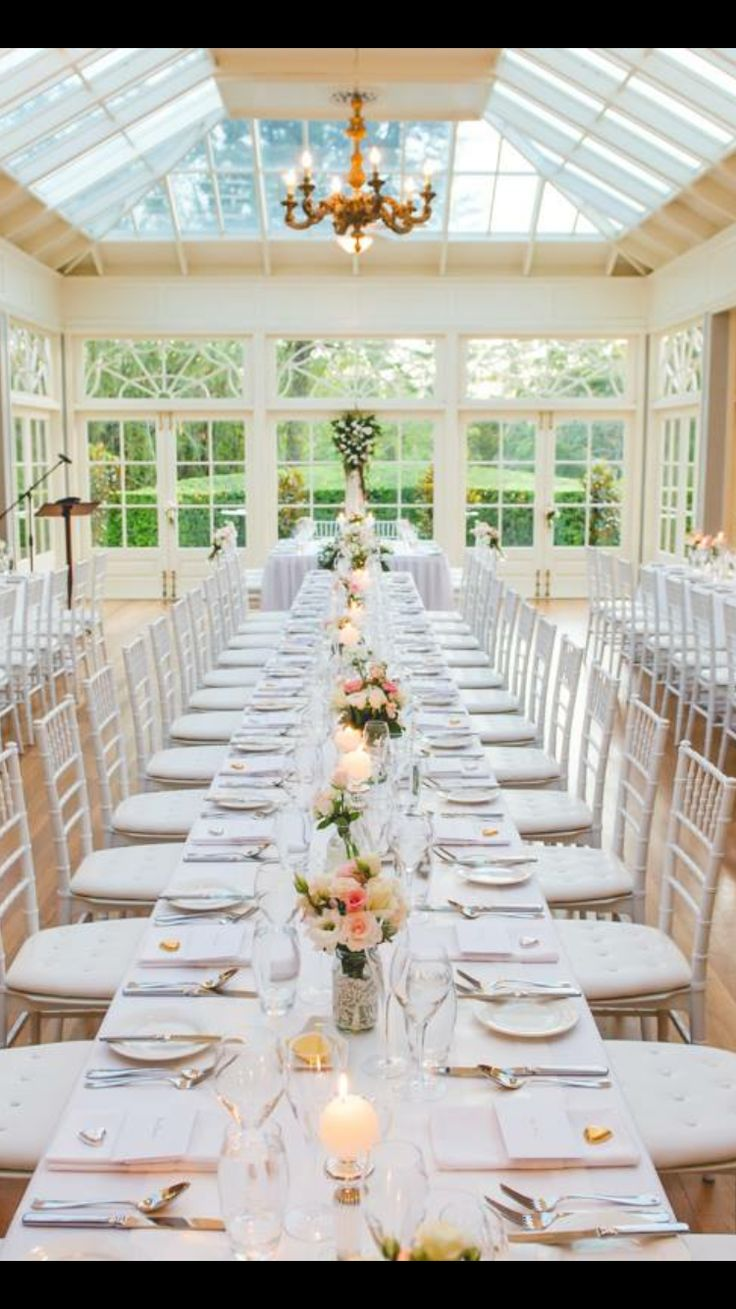 Love these tables 19 best Conservatory Receptions