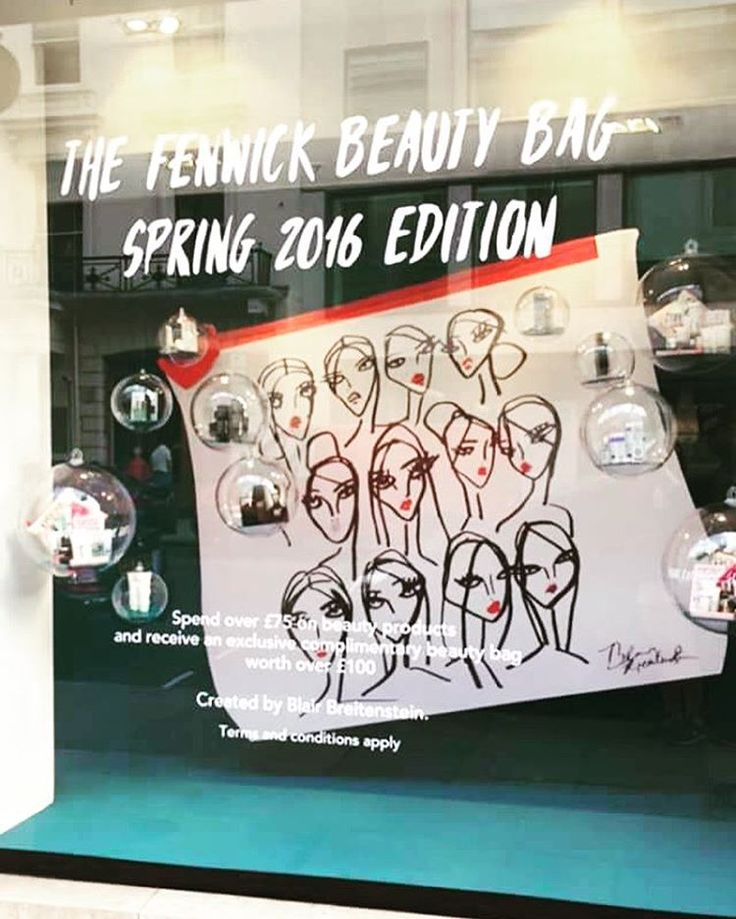beauty bag for @fenwickbondst back in stock- available in stores only. Window