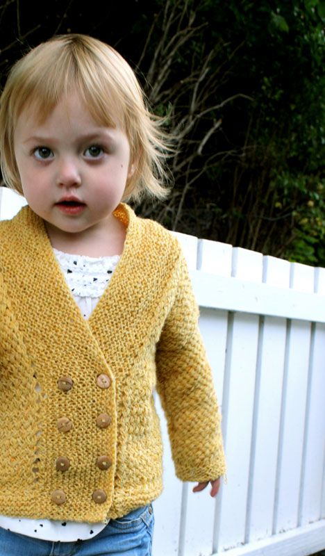 Child's Double Breasted Sweater Pattern