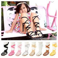 Новое прибытие 8 цвета Лето сапоги мода Римские девушки босоножки обувь ребенка малыша сандалии PU кожаные детские сандалии(China (Mainland))