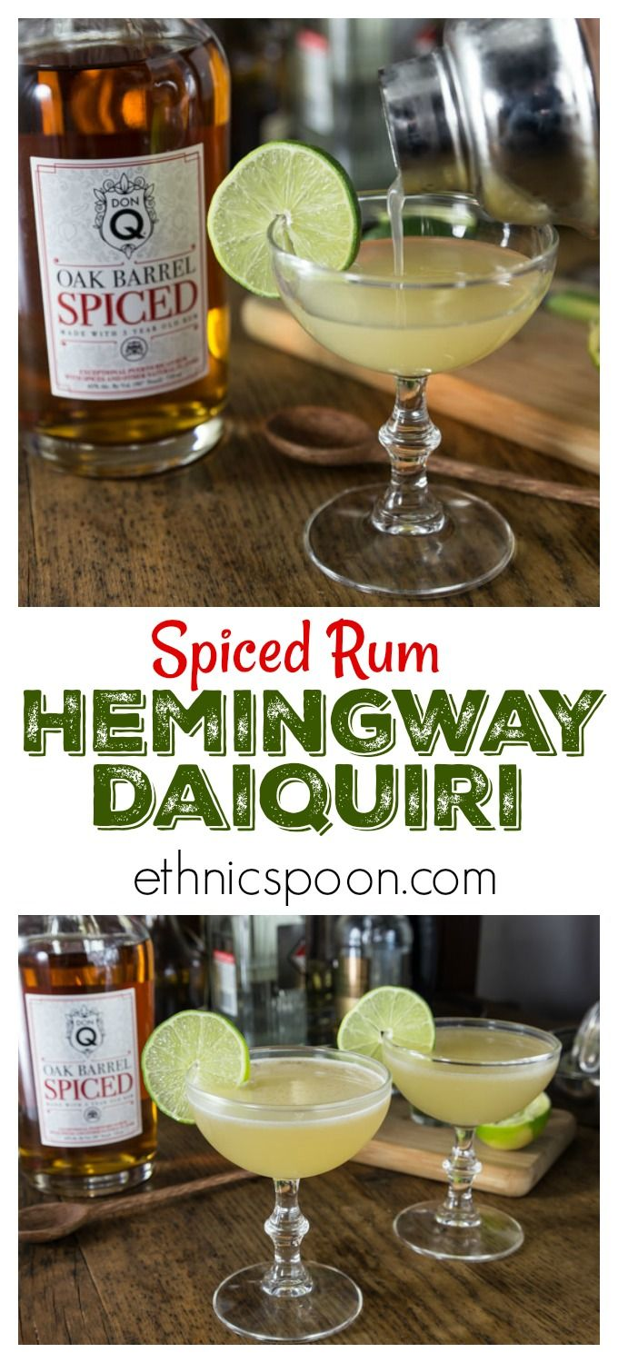 When it comes to cocktails don't skimp on the ingredients.  Always use fresh fruit juices and fine spirits!  You will love the subtle flavors in this classic Hemingway Daiquiri with Don Q Spiced Rum.  This is crisp and refreshing so shake one up and enjoy! #cocktails #daiquiri  #DonQRum #Exceptional #rum  #ad | ethnicspoon.com